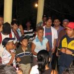 José Morales en zonas afectadas por lluvias